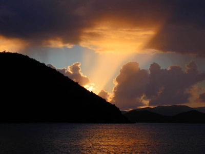 Sunset at Little Harbor, Peter Island