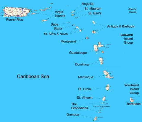 Map Of The West Indies Click On An Island For More Info Here List Islands